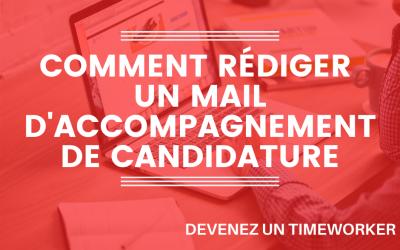 Comment rédiger un mail d'accompagnement de candidature