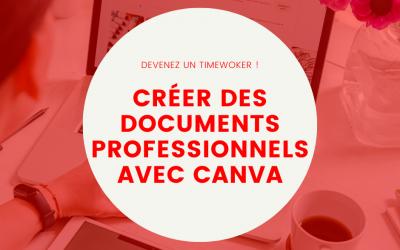 Créer des documents professionnels avec Canva